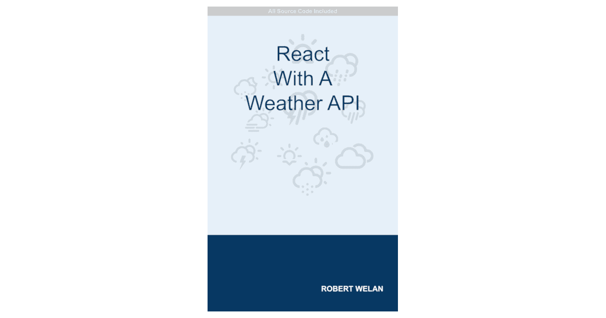 react with a weather api book cover